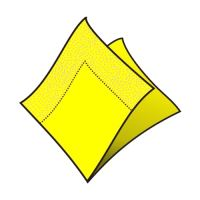 Ubrousky 2-vrstvé 33 x 33 cm žluté 50 ks