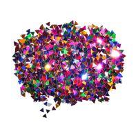 Dekorace trojúhelníky mix barev 6 mm/14 g