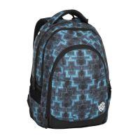 Studentský batoh DIGITAL 8 C BLACK/BLUE/GREEN