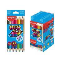 """Pastelky MAPED """"COLOR'PEPS"""" DUO 12 ks"""