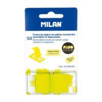 Blok lep MILAN FLUO záložka PVC 45 x 25 mm žlutá