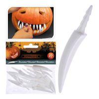 Dekorace - umělé zuby do dýně, set 16ks