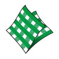 Ubrousky 1-vrstvé 33 x 33 cm karo zelené 100 ks