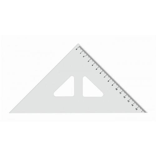 Pravítko  trojuhelník s ryskou 16cm