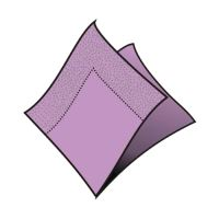 Ubrousky 2-vrstvé 33 x 33 cm sv.fialové 50 ks