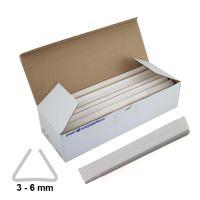 Násuvné lišty Relido 3-6 mm bílé