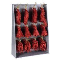 Vánoční ozdoby - PP červené různé tvary 16 cm, 1ks