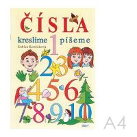 Omalovánka A4 Litera - Čísla kreslíme, píšeme