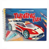 Kreativní omalovánka Monster Cars + kreativní fólie