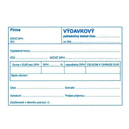 Výdajový pokl.. doklad pro podvo. účet. A6 (897)