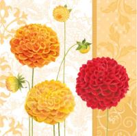 Ubrousky PAW L 33x33 cm Floral Autumn Orange
