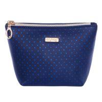 Kosmetická taška Blue Triangles - hranatá