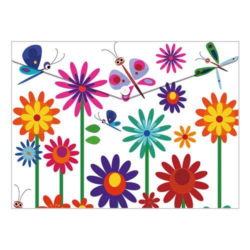 Obal PP s patentkou A4, Spring Flowers