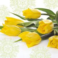 Obrousky PAW L 33x33cm Yellow Tulips