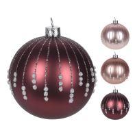 Vánoční koule - skleněná, různé druhy 100 mm, 1ks