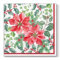 Ubrousky PAW L 33x33 cm Beautiful Poinsettia