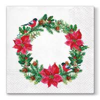 Ubrousky PAW L 33x33cm  Xmas Wreath