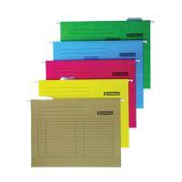 Závěsné zakládací desky, kartonové A4, DONAU, žluté /5ks/