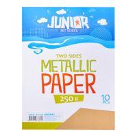 Dekorační papír A4 10 ks zlatý metallic 250 g