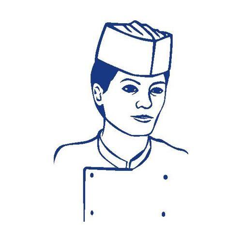 Kuchařská čepice, lodičky (25 ks v bal.)