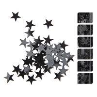 Dekorační konfety 50g - černé, mix / 1ks