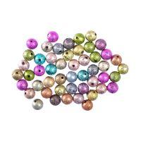 Dekorační korálky perleťové mix barev, sada 50 ks