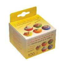 Cukr. košíčky barevné průměr 50 mm, výška 30 mm / 100 ks /