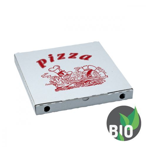Krabice na pizzu z vlnité lepenky 34 x 34 x 3 cm, 100 ks