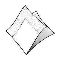 Ubrousky 2-vrstvé 24 x 24 cm bílé 250 ks