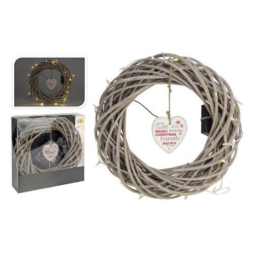 Věnec - svítící 20 LED teplá bílá, 35 cm