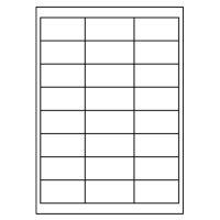 Etikety PRINT A4 / 100 ks, 66x33,8 - 24 etiket, bílé