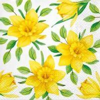 Ubrousky PAW L  33x33cm Yellow Daffodils