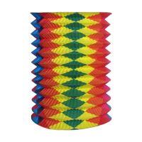 Lampion roztahovací barevný 25 cm