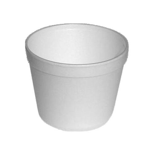 Miska termo kulatá bílá 550ml, 25 ks