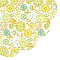 Ubrousky PAW R 32 cm Floral Pattern Orange