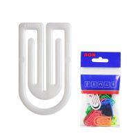 Dopisní spony plastové 632, oblá, 32 mm (10 ks)