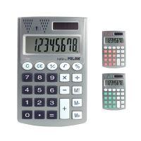 Kalkulačka MILAN kapesní 8-místná Silver