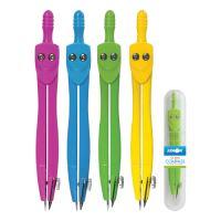 Kružítko školní SC01001C barevné - pevné