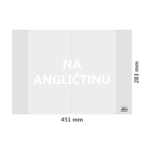 Obal na Angličtinu PVC 451x283 mm, hrubý / transparentní, 1 ks