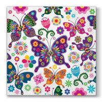 Obrousky TaT 33X33cm Colorful Butterflies