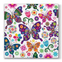 Ubrousky TaT 33X33cm Colorful Butterflies