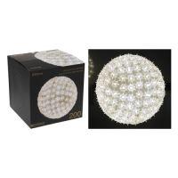 Koule - svítící 200 světel studená bílá, 23 cm