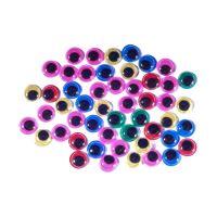 Dekorace pohyblivé oči mix barev 50 ks 10 mm