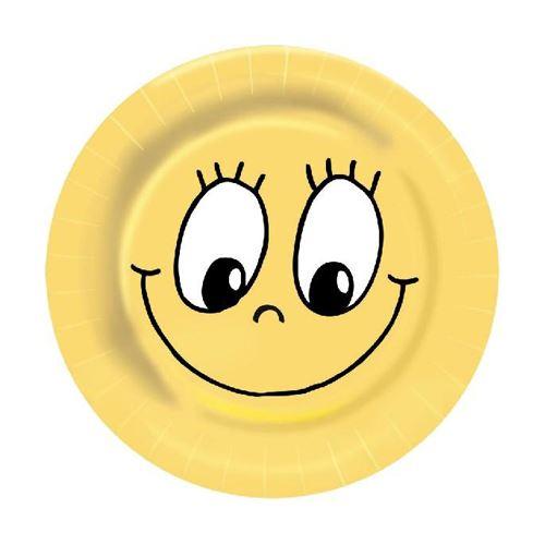 Talíře papírové 23 cm Smiley 10ks