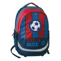 Školní batoh Seven Sazio, Red&Blue Football