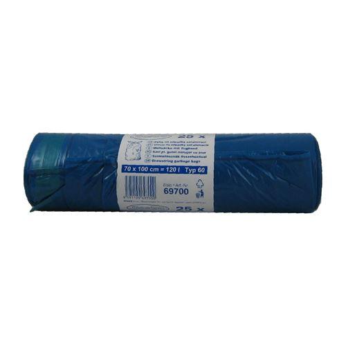 Pytle na odpad 120 l zatahovací 70 x 100 cm /38mic/ Typ 60