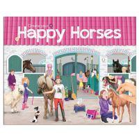 Kreativní sešit Horses Dreams / Happy Horses se samolepkami