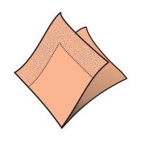 Ubrousky 2-vrstvé 33 x 33 cm apricot 50 ks