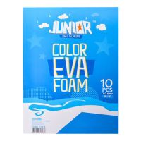 Dekorační pěna A4 EVA modrá tloušťka 2,0 mm, sada 10 ks