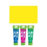 Akrylová barva JUNIOR 120 ml citronová žlutá 100
